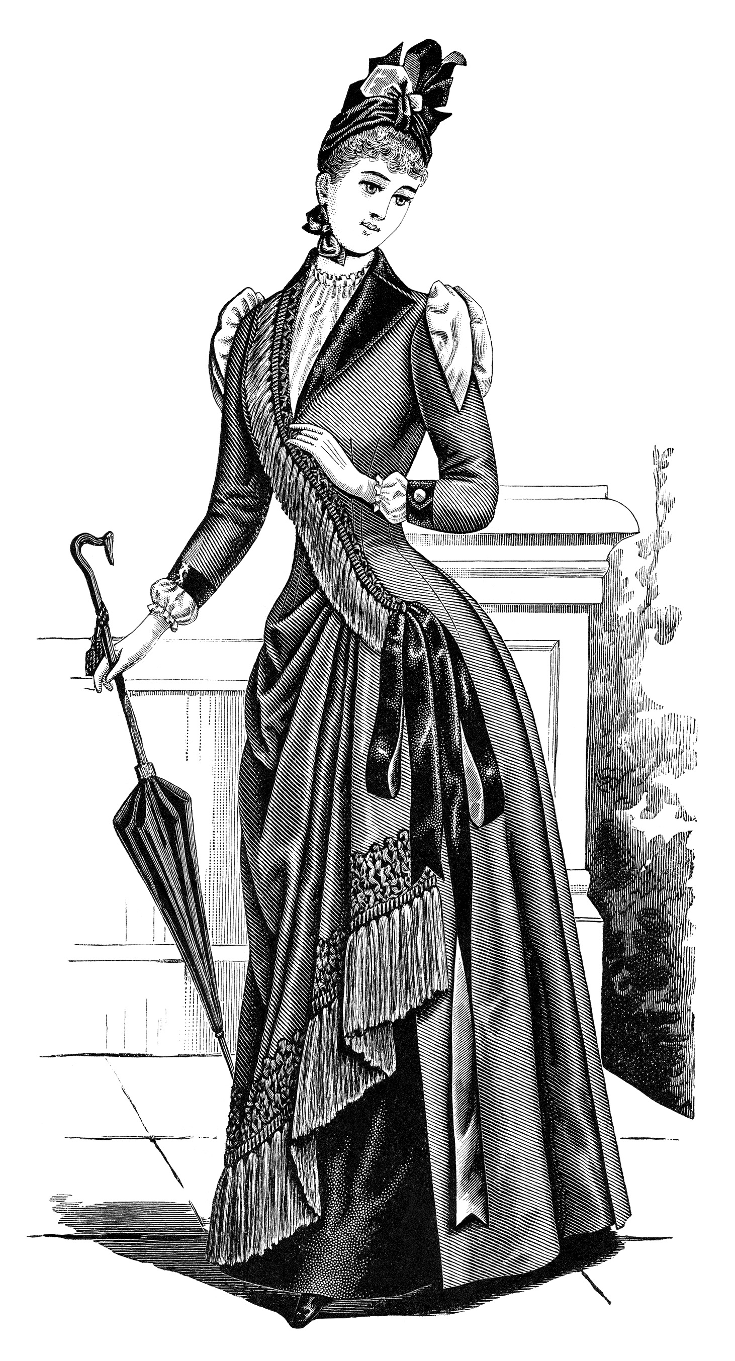 Victorian lady with umbrella clipart svg black and white download Free Victorian Parasol Cliparts, Download Free Clip Art ... svg black and white download