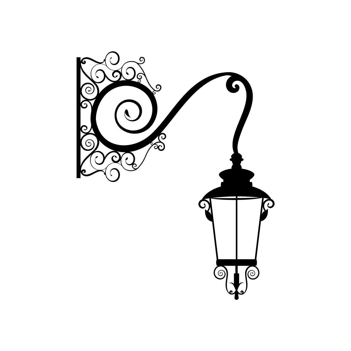 Victorian lamp post clipart graphic black and white download Free Lamp Post Clipart victorian, Download Free Clip Art on ... graphic black and white download