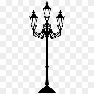 Victorian lamp post clipart banner black and white stock Streetlight Clipart Transparent - Victorian Lamp Post ... banner black and white stock