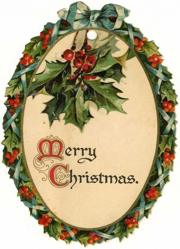 Victorian merry christmas clipart png library library Free Victorian Christmas Cards with Winter Snow Scenes ... png library library