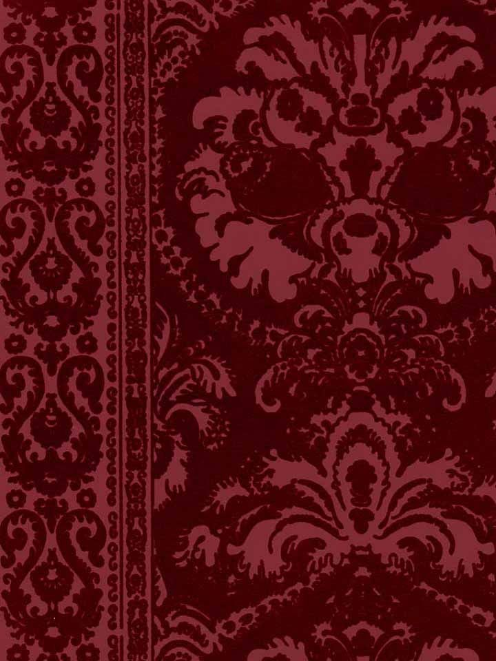Victorian shell wall paper clipart svg black and white Victorian Flocked Velvet Wallpaper | Interior in 2019 ... svg black and white