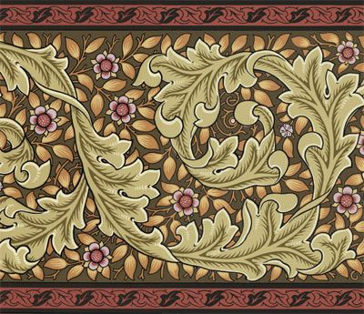 Victorian shell wall paper clipart vector library stock Kelmscott Frieze - inspired by William Morris ... vector library stock