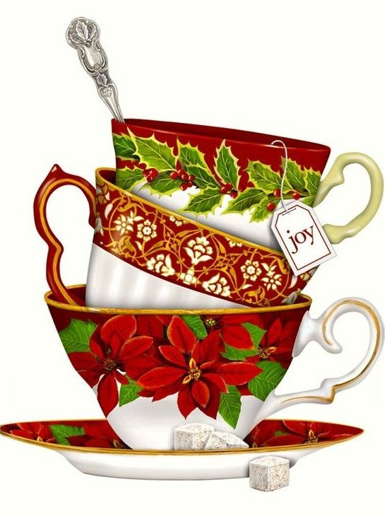 Victorian tea clipart christmas graphic free library Mary Lake Thompson | Yılbaşı dekopaj | Christmas napkins ... graphic free library