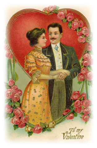 Victorian valentine clipart png freeuse download Free Clip Art from Vintage Holiday Crafts » Blog Archive » Free ... png freeuse download