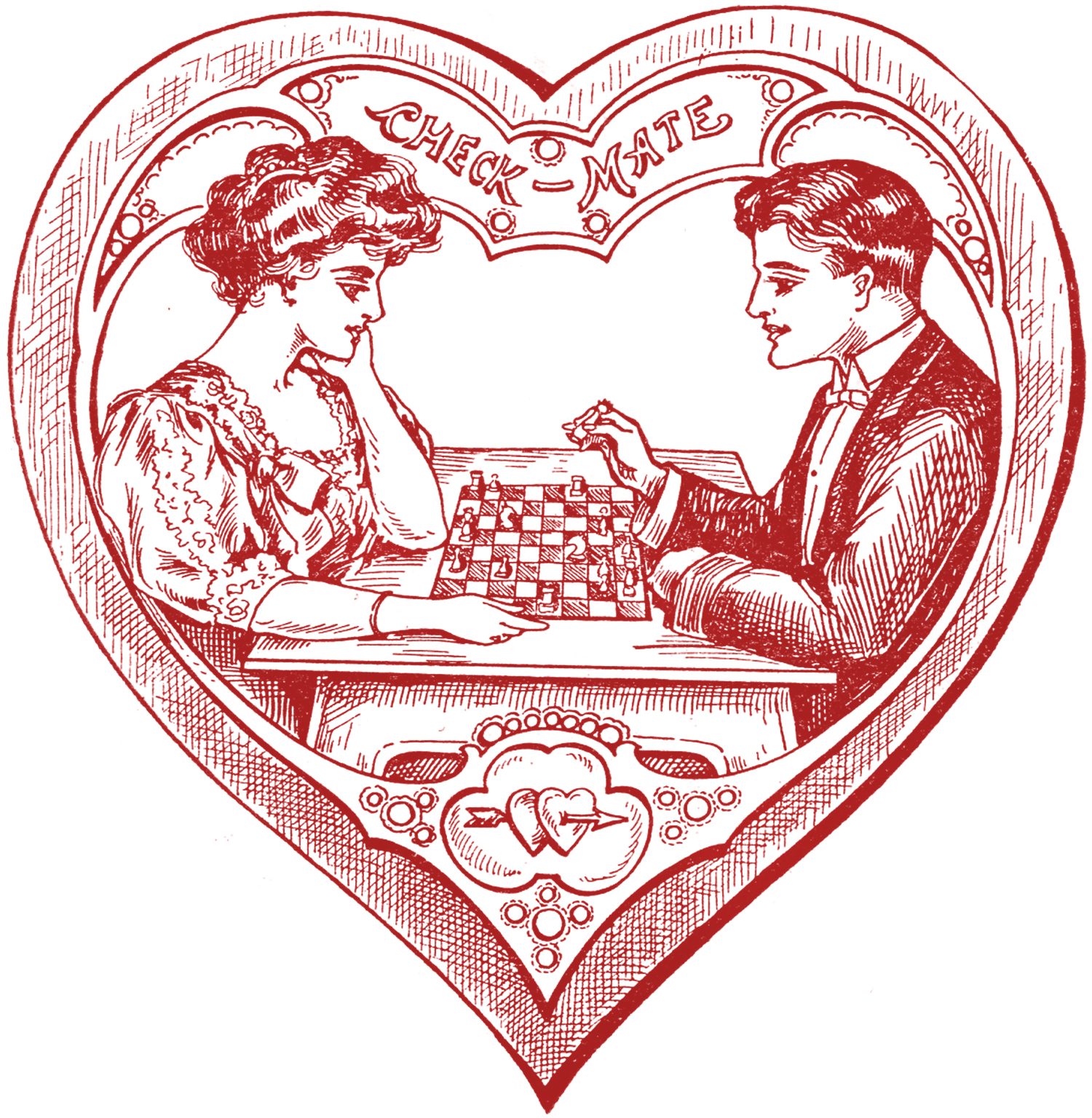 Victorian valentine clipart picture free library Victorian valentine clipart - ClipartFest picture free library