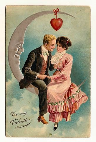 Victorian valentine clipart black and white stock 10 Best images about VINTAGE VALENTINE POSTCARDS on Pinterest ... black and white stock