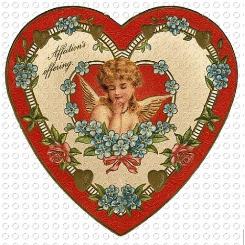 Victorian valentine clipart clip art black and white library victorian hearts | Victorian Valentine Heart Shaped Cupid Angel ... clip art black and white library