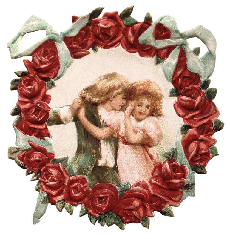 Victorian valentine clipart graphic free stock Victorian Valentine Flower Wreath Clip Art @ Vintage Fangirl graphic free stock