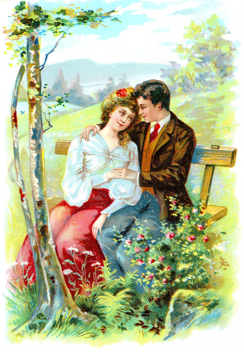 Victorian valentine clipart image freeuse Vintage Victorian Valentine Clipart - Clipart Kid image freeuse