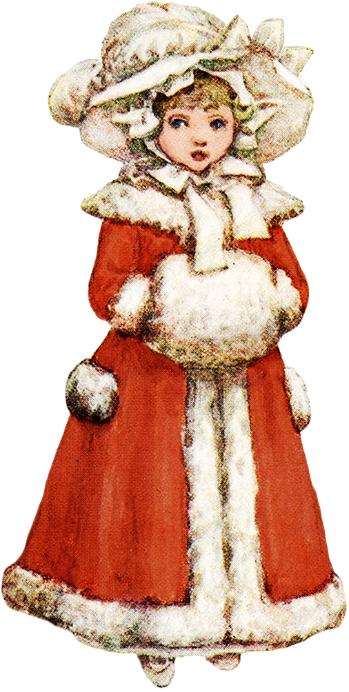 Victorian winter clipart png clip stock Charming Vintage Christmas Clip Art clip stock