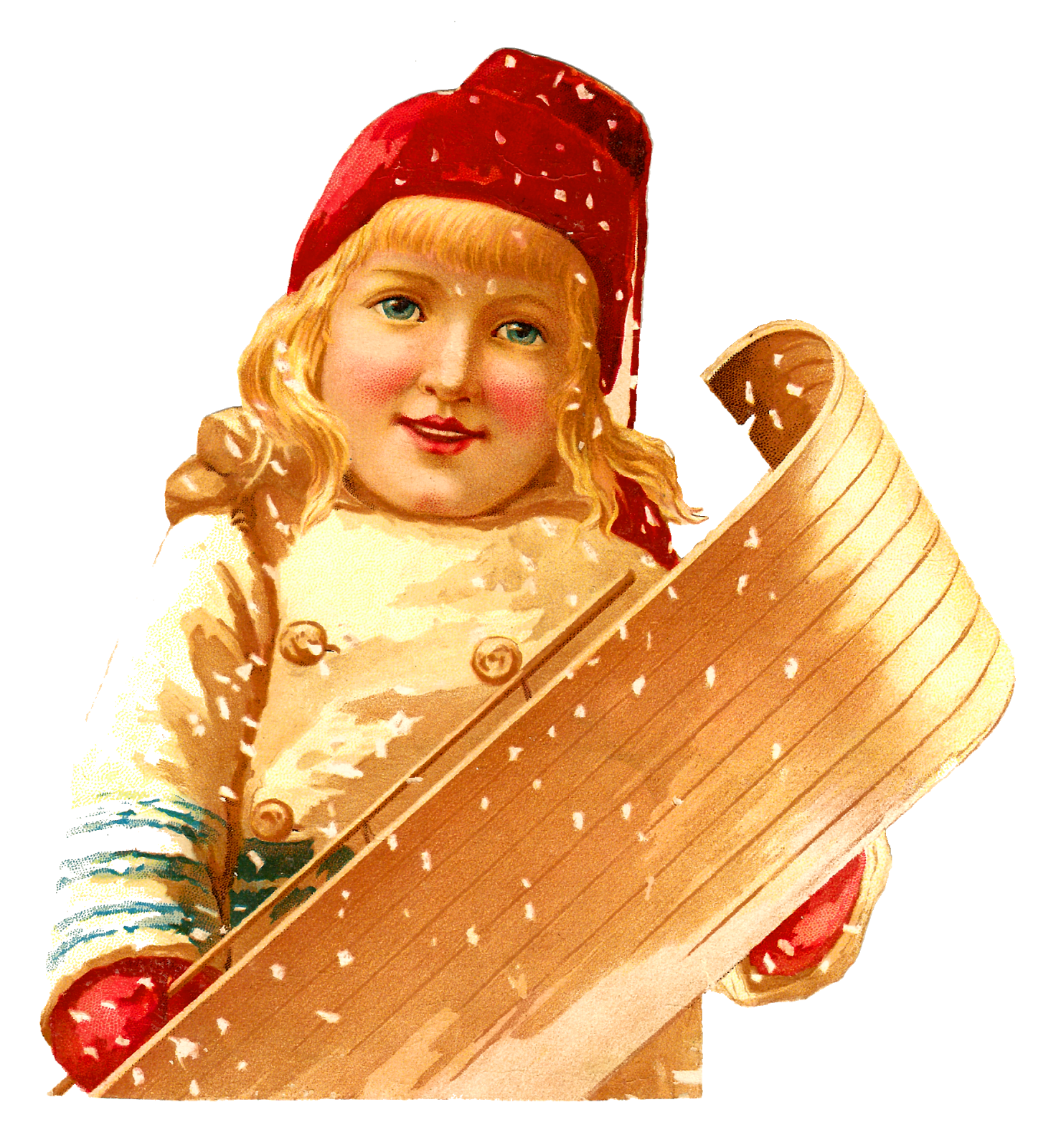 Victorian winter clipart png graphic library stock Antique Images: Antique Victorian Girl Clipart Winter Sled ... graphic library stock