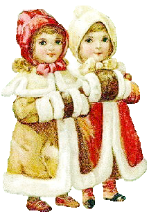 Victorian winter clipart png image Vintage Winter Free Clipart - Clip Art Library image
