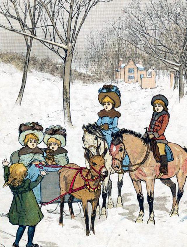 Victorian winter clipart png transparent library Vintage Winter Children Clip-Art #Etsy #Vintage ... transparent library