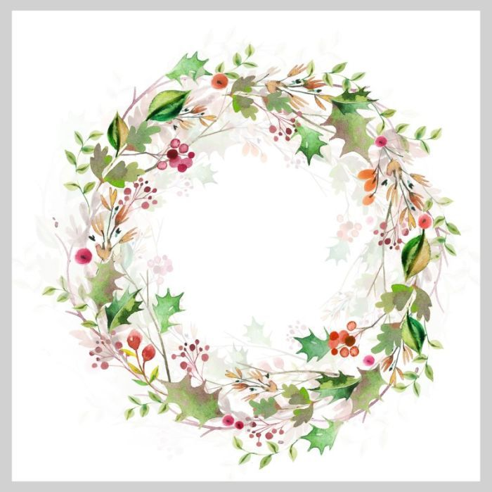 Victorian wreath clipart picture library Victoria Nelson - Watercolour Christmas Wreath | Акварель ... picture library