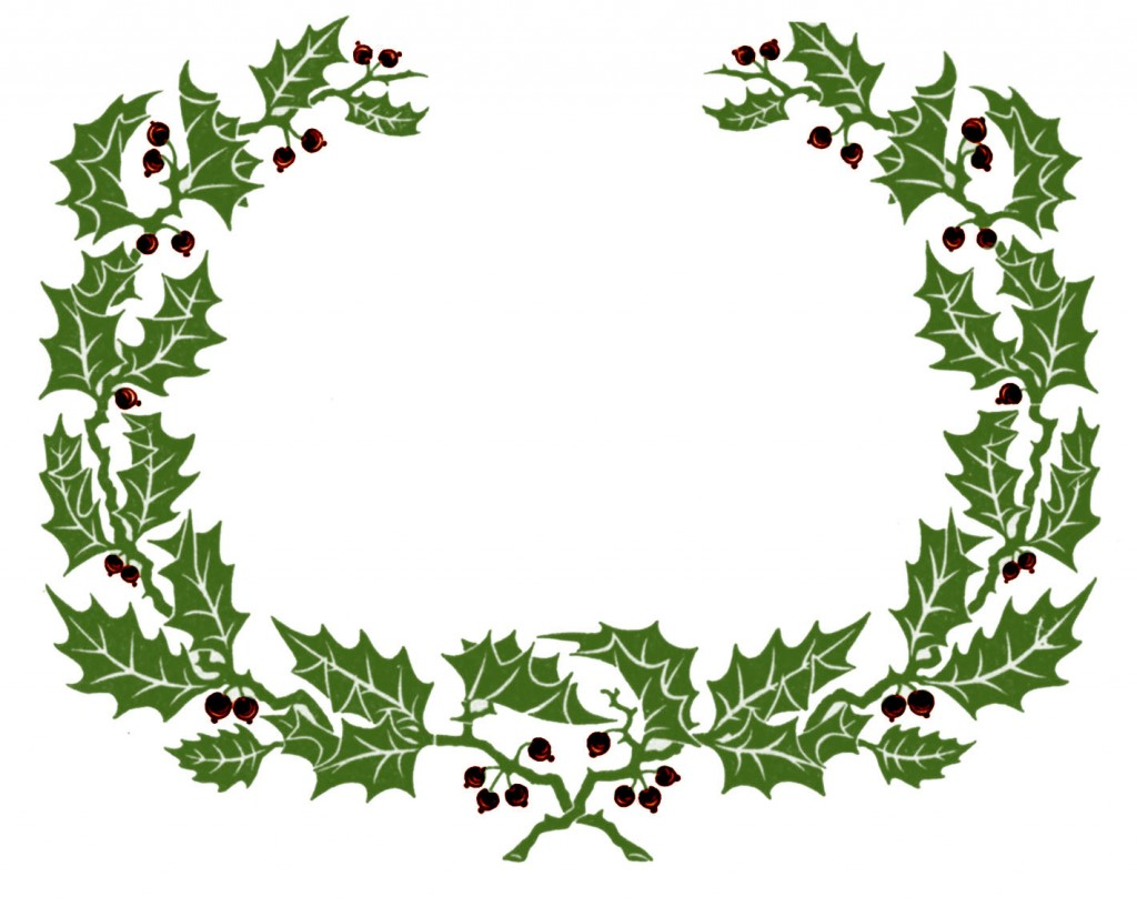 Victorian wreath clipart banner freeuse library Christmas Clipart Victorian | Free download best Christmas ... banner freeuse library