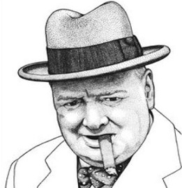 Victory churchill clipart clipart black and white Free Winston Churchill Clipart clipart black and white