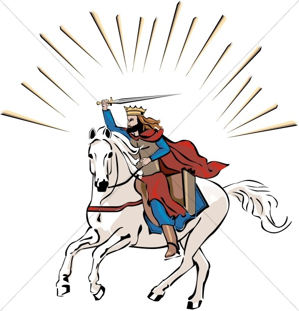 Victory in jesus clipart banner transparent White Horse Rider in Color | Jesus Clipart banner transparent
