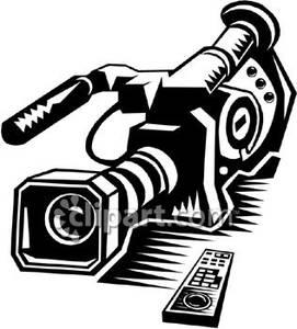 Video camera clipart black and white clip stock Black and White Video Camera - Royalty Free Clipart Picture clip stock
