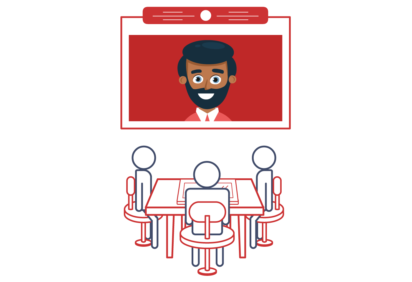 Video conference room clipart vector library library Video Conferencing | Canon New Zealand vector library library
