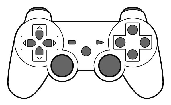 Video game clipart black and white clip royalty free download Video Game Clipart Black And White – Pencil And In Color ... clip royalty free download