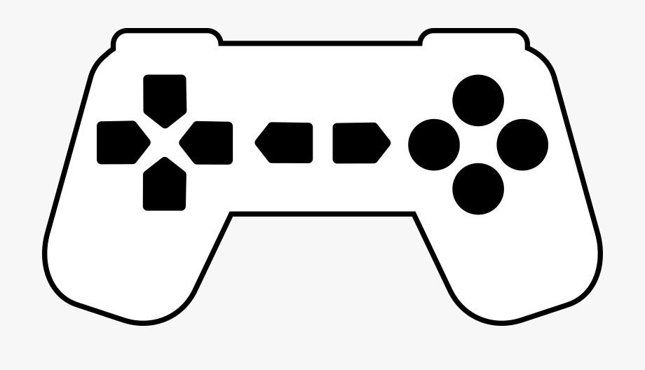 Video game controller silhouette clipart clipart library download Gaming Clipart Video Game - Game Controller Silhouette Png ... clipart library download