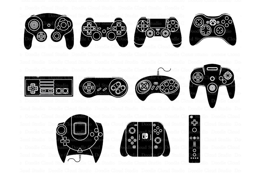 Video game controller silhouette clipart clip freeuse Game Controller SVG files. clip freeuse