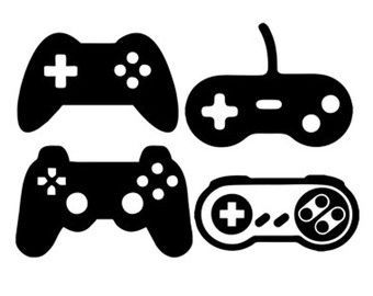 Video game controller silhouette clipart graphic game controllers svg dxf file instant download silhouette ... graphic
