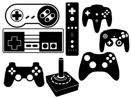 Video game controllers clipart free png black and white download Free Game Controller Cliparts, Download Free Clip Art, Free ... png black and white download
