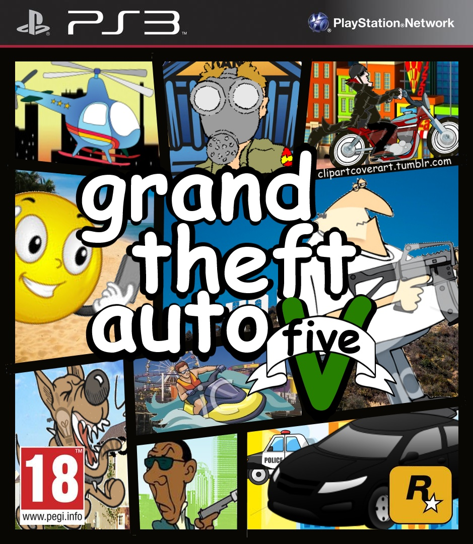 Video game cover clipart png transparent Gta game clipart - ClipartFest png transparent