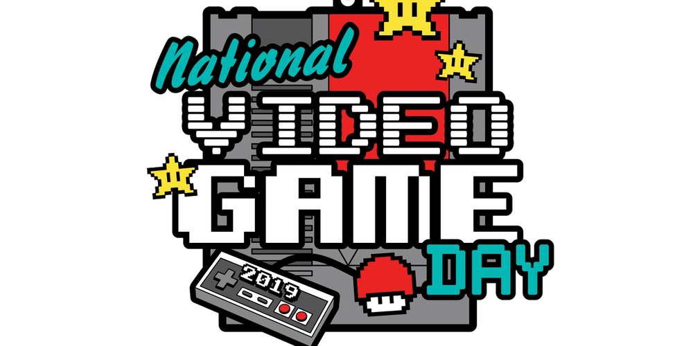 Video game marathon clipart picture freeuse stock 2019 Video Game Day 1 Mile, 5K, 10K, 13.1, 26.2 ... picture freeuse stock