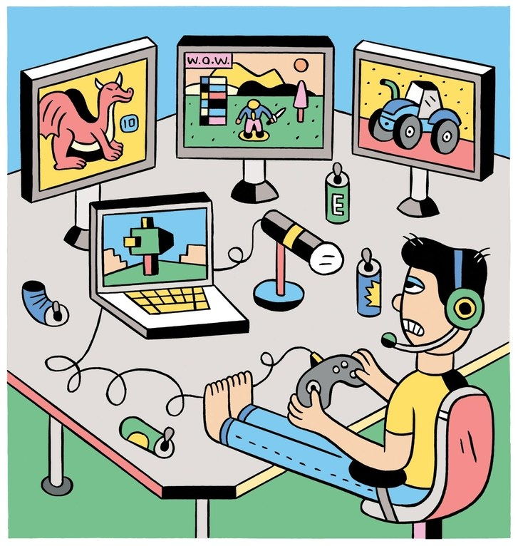 Video game marathon clipart jpg How to Get Rich Playing Video Games on Twitch | The New Yorker jpg