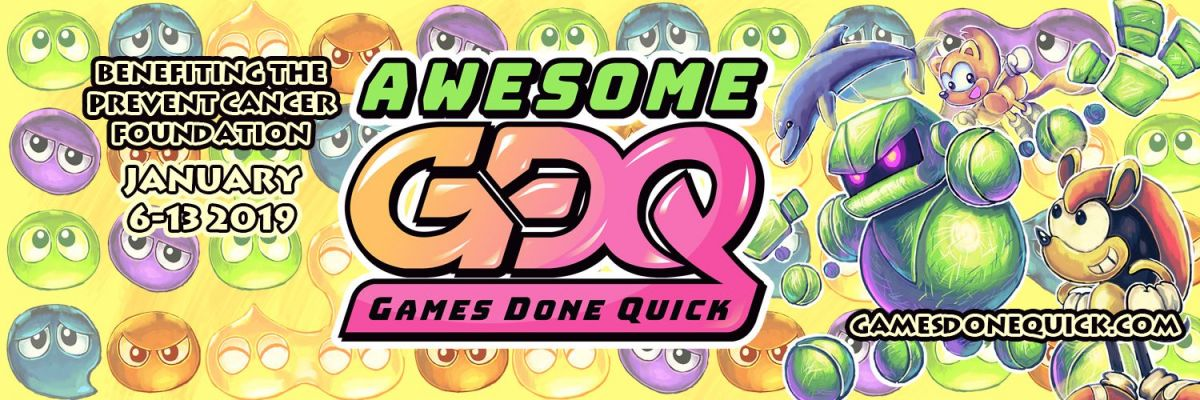 Video game marathon clipart clipart transparent download Charity Speedrun Marathon By Awesome Games Done Quick Raises ... clipart transparent download