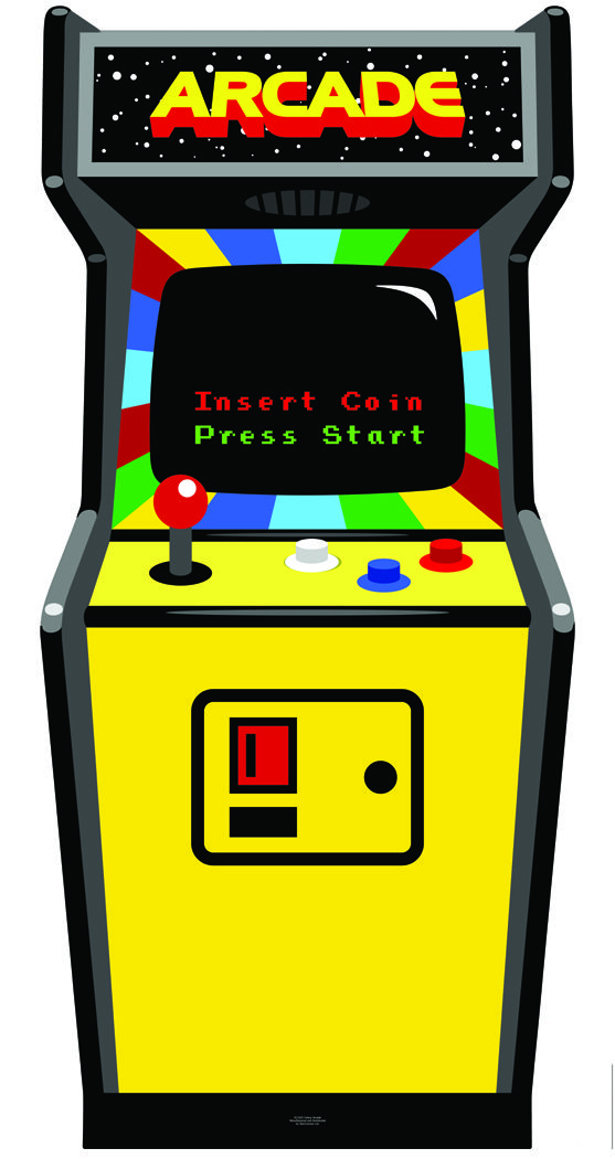 Video game rental store clipart graphic black and white download Image result for arcade cabinet clipart | arcade party di 2019 graphic black and white download