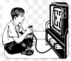 Video games in class clipart black and white vector transparent library Black Games Cliparts - Making-The-Web.com vector transparent library