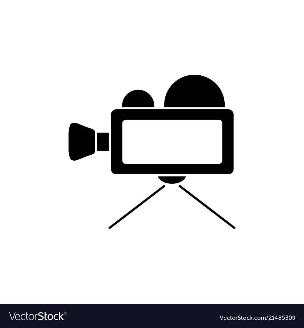 Video camera clipart jpeg vector download Video camera black icon vector download