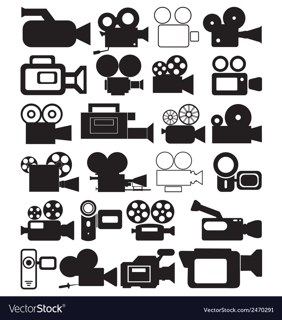 Video icon vector clipart picture transparent stock Video camera icons picture transparent stock