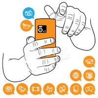 Video with cell phones clipart image free library Mobile Cell Phone Functionality Taking Photo and Video stock ... image free library
