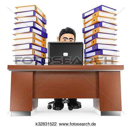 Viel arbeit clipart image freeuse Clip Art - 3d, geschäftsmann, in, büro, mit, viel, arbeit, machen ... image freeuse