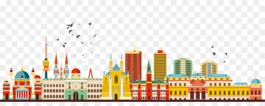 Vienna clipart jpg black and white download City Skyline Silhouette png download - 1300*500 - Free ... jpg black and white download