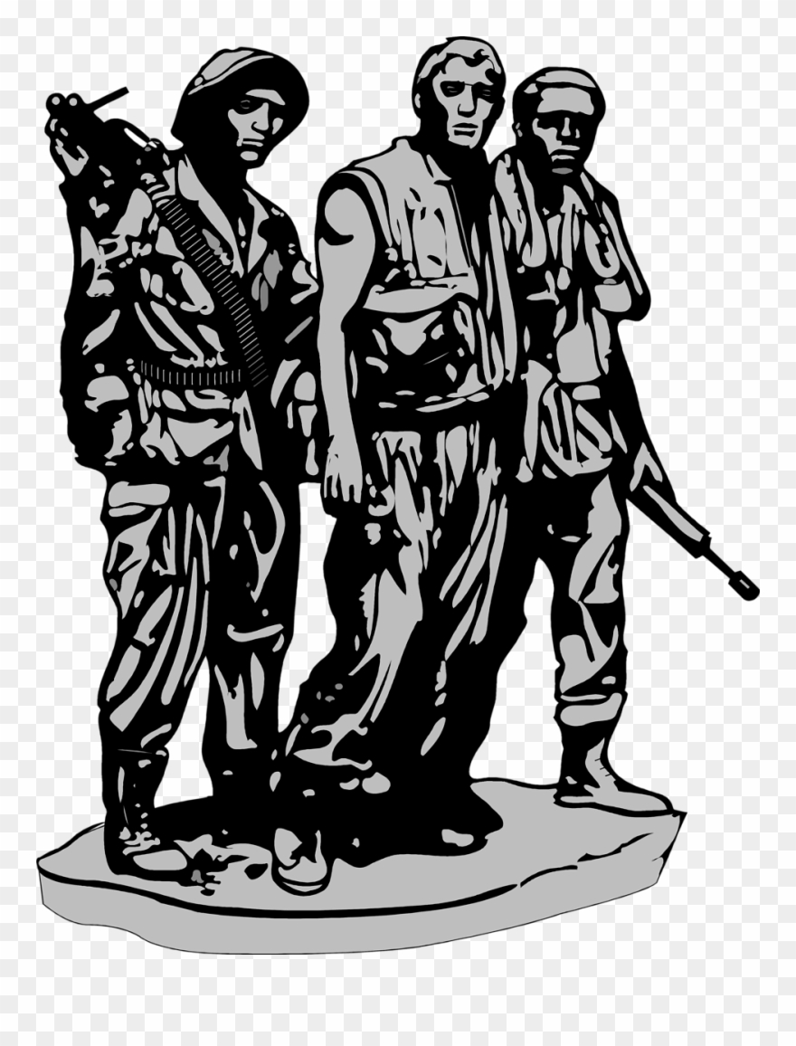 Vietnam clipart black and white image library The Vietnam War - Vietnam Veterans Memorial Vector Clipart ... image library
