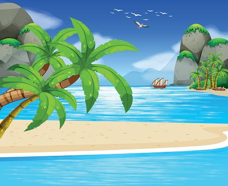 View of water clipart clip freeuse stock Ocean View With Sail Floating ON Water premium clipart ... clip freeuse stock
