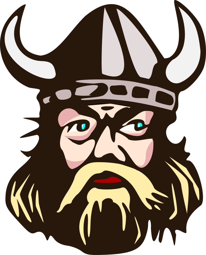 Viking cross clipart graphic black and white download OnlineLabels Clip Art - Viking Head With Horn graphic black and white download