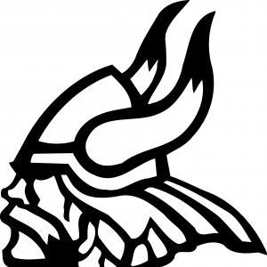 Viking head clipart svg transparent Viking Head With Helmet Viking Logo Vector Clipart   HandandBeak svg transparent
