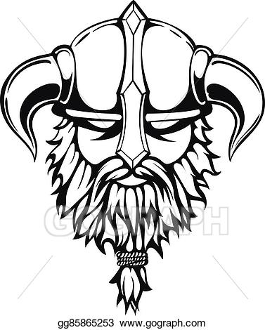 Viking head viking clipart graphic transparent download Vector Stock - Viking graphic image. Stock Clip Art ... graphic transparent download