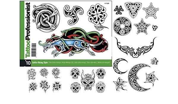 Viking tattoo clipart image freeuse Amazon.com: Tattoo Professionist #10 Celtic-Viking Style ... image freeuse