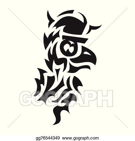 Viking tattoo clipart image freeuse library EPS Illustration - Bird viking tattoo. Vector Clipart ... image freeuse library