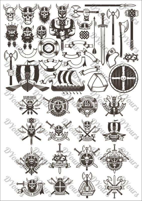 Viking top element clipart black jpg Vikings Vector Files Skull Ship Sword Axe Hammer Warrior ... jpg