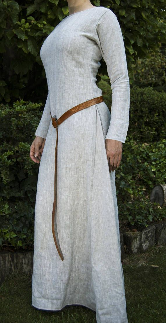 Viking tunic trim clipart transparent Medieval Linen Dress, Kirtle, Chemise, Women\'s Tunic From ... transparent