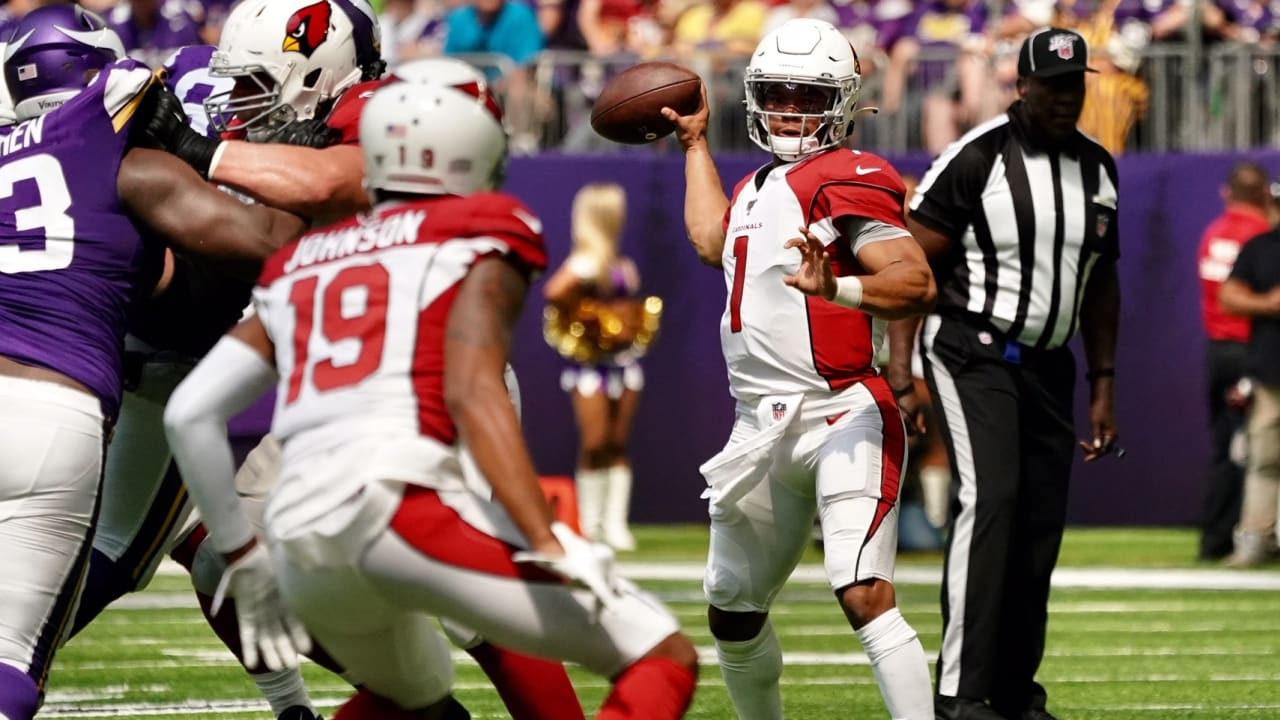 Vikings wide receiver clipart vector freeuse library Kyler Murray Bounces Back As Cardinals Fall To Vikings vector freeuse library