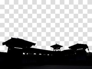 Village skyline clipart clip art black and white stock Fortifications of Xian Silhouette Architecture, Ancient town ... clip art black and white stock